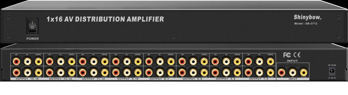 1x16 Composite Video•Audio Distribution Amplifier