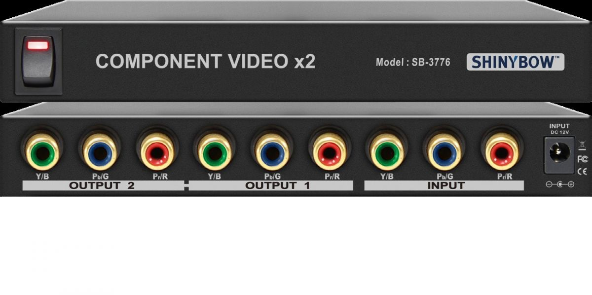 1x2 Component Video Distribution Amplifier