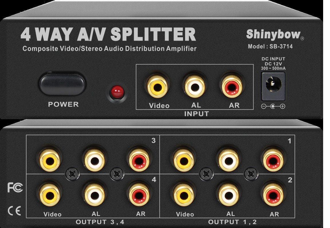 1x4 Composite Video•Audio Distribution Amplifier
