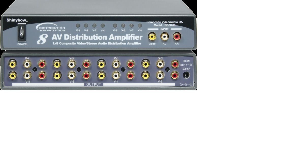 1x8 Composite Video•Audio Distribution Amplifier