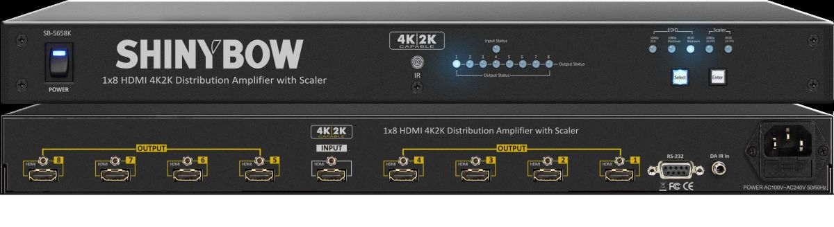 1x8 HDMI Distribution Amplifier with Scaler