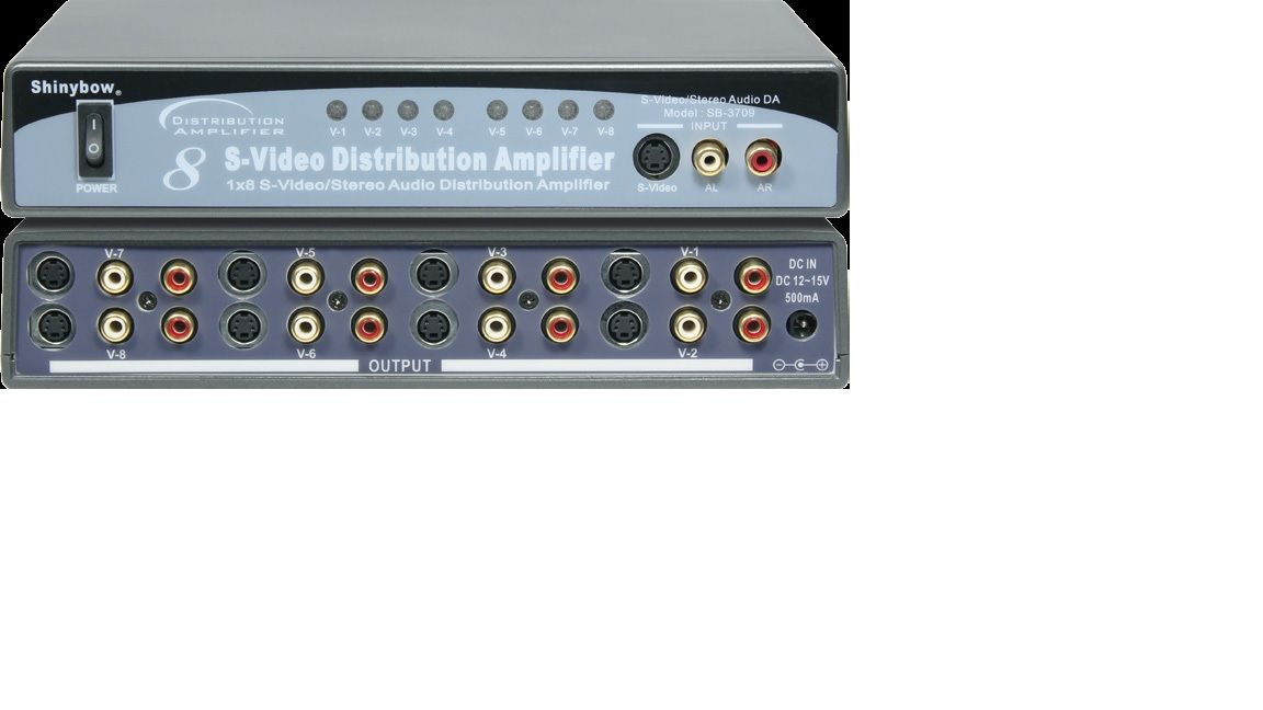 1x8 S-Video•Audio Distribution Amplifier