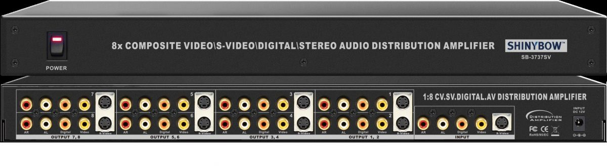 1x8 S-Video•Composite Video•Digital•Audio Distribution Amplifier