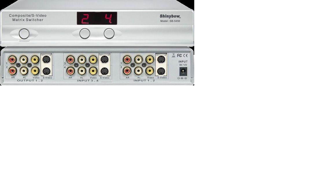 4x2 S-Video•Composite Video•Audio Matrix Switcher