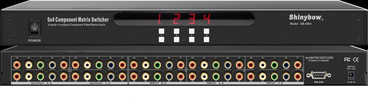 6x4 Component•Audio Matrix Switcher