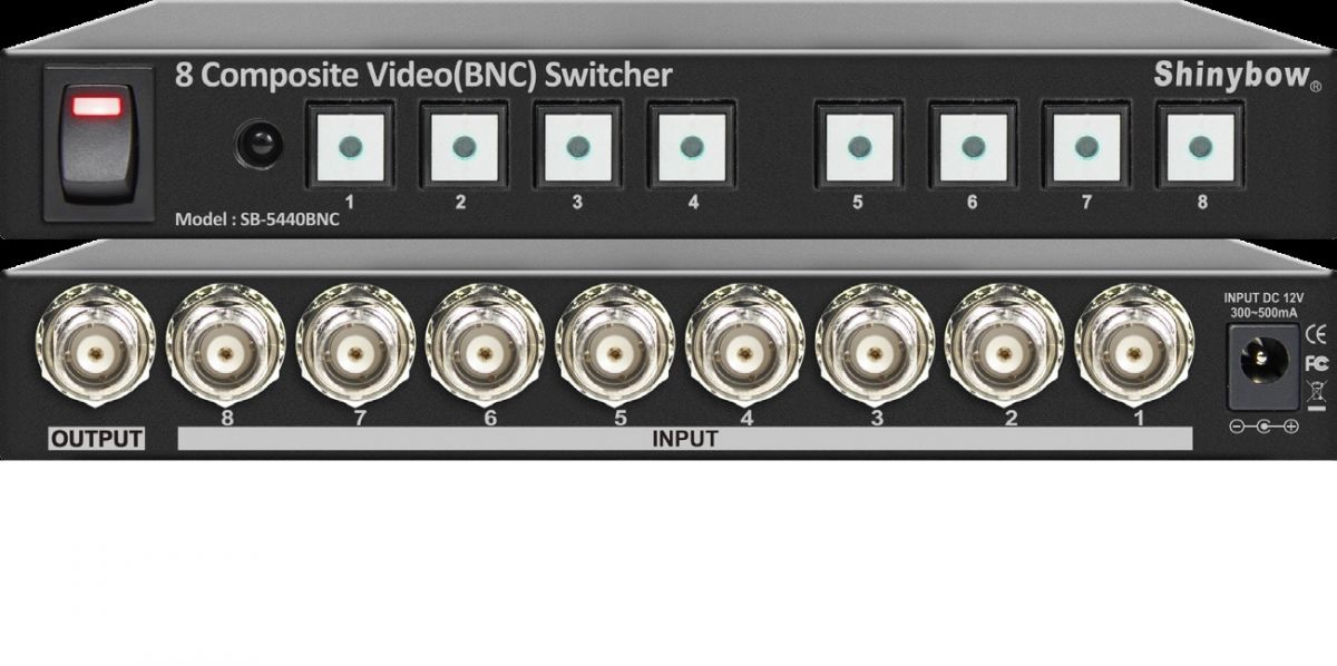8x1 Composite Video (BNC) Switcher