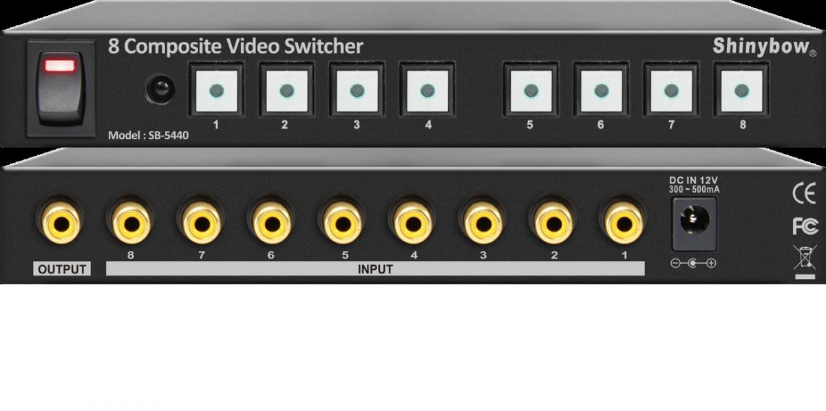 8x1 Composite Video Switcher