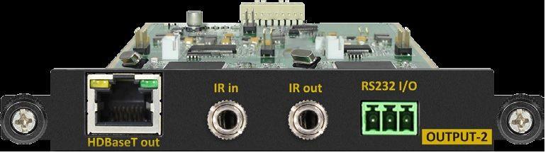 Modular Type HDBaseT w/POE Modular Card for SB-3888, SB-3855, SB-3693