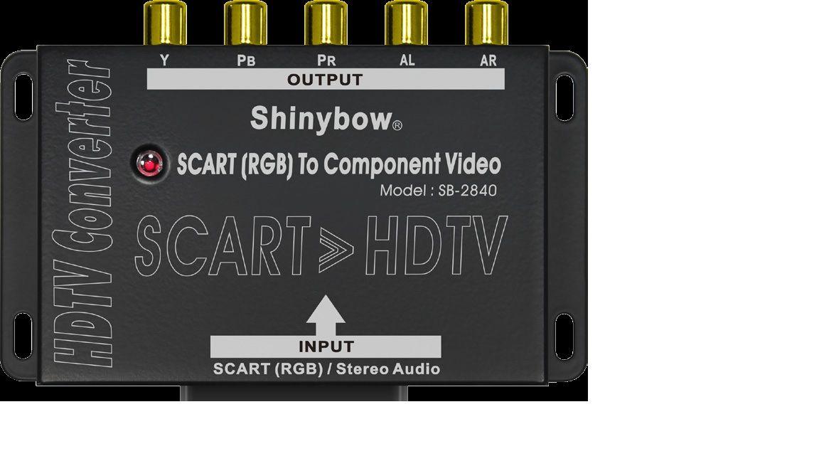SCART-RGB To Component•Audio Converter